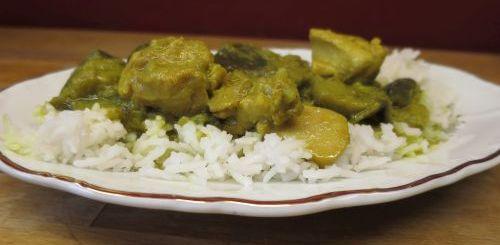 Curry de poulet aux aubergines