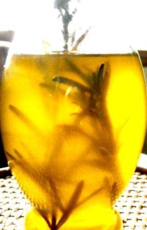 rosemary branch in olive oil