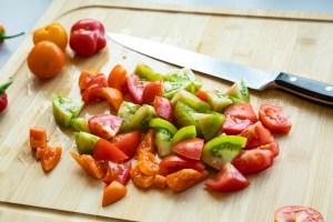 Tomaten, geschnitten