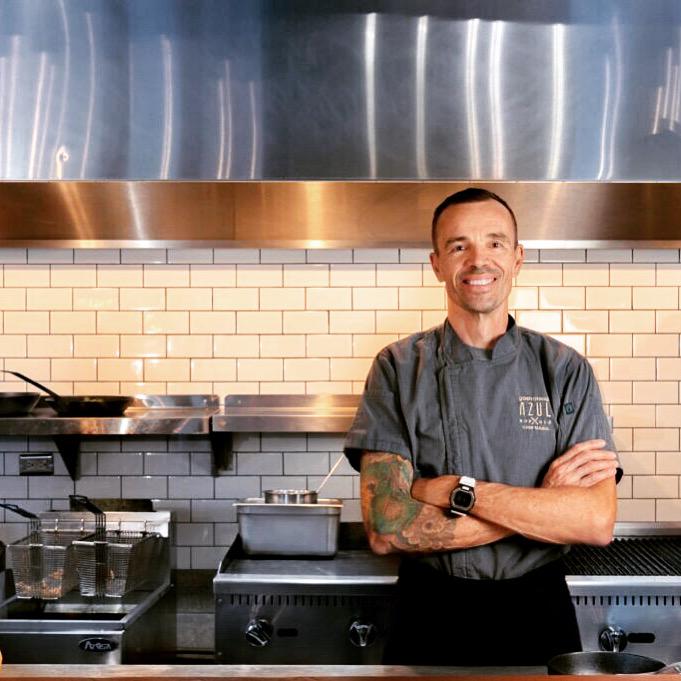 Mario Lopez in Kitchen