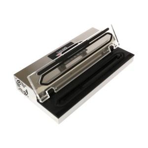 Bred vakuumförpackare för 40 cm-påsar öppet lock