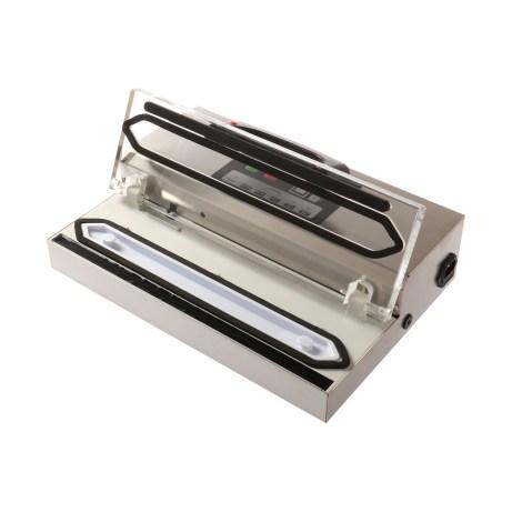 vakuumförpackare för 30 cm-påsar sedd snett ovanifrån med öppet lock