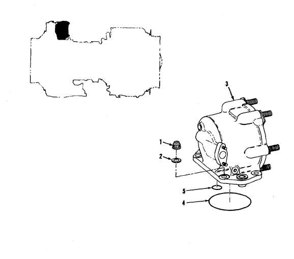 FIGURE 41. STARTER DRIVE ASSEMBLY AND RELATED PARTS