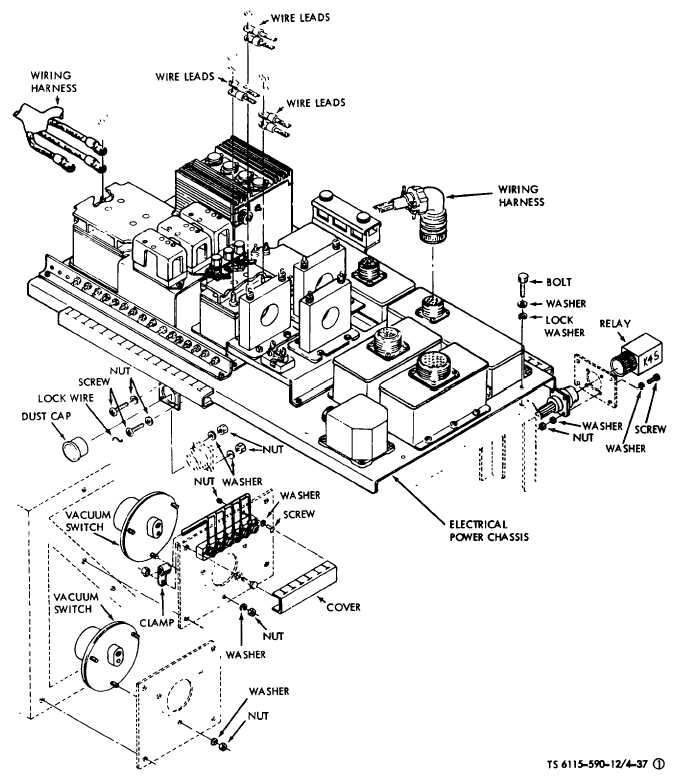 Figure 4-37(1). Upper Electrical Power Chassis Component