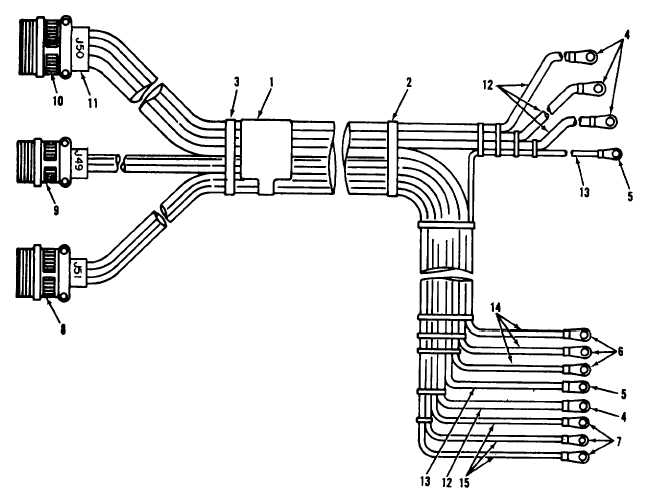 Figure 72. Electrical installation wire harness, AC power