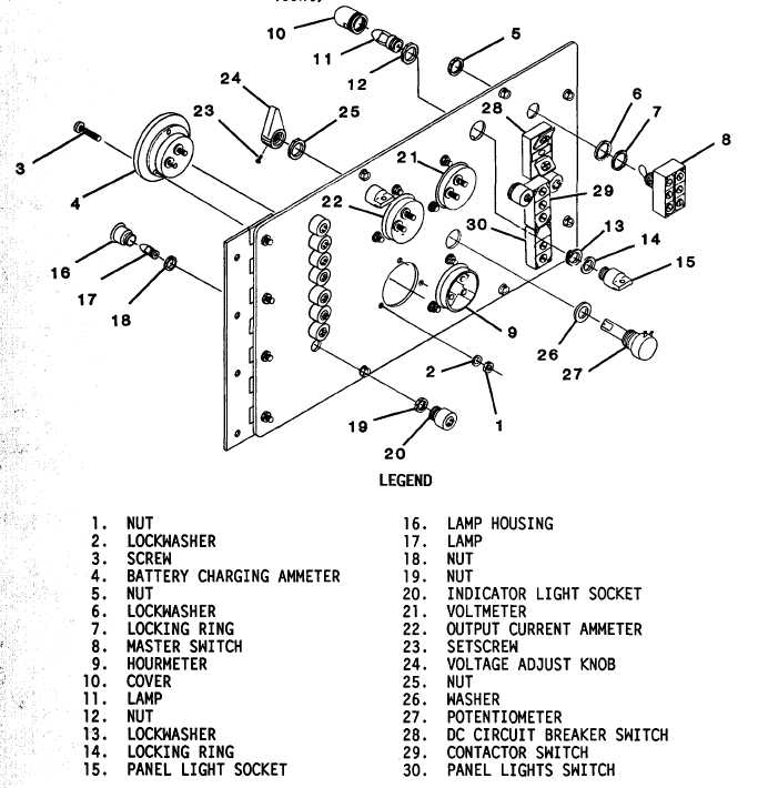 Figure 4-43. Control Panel Component Replacement