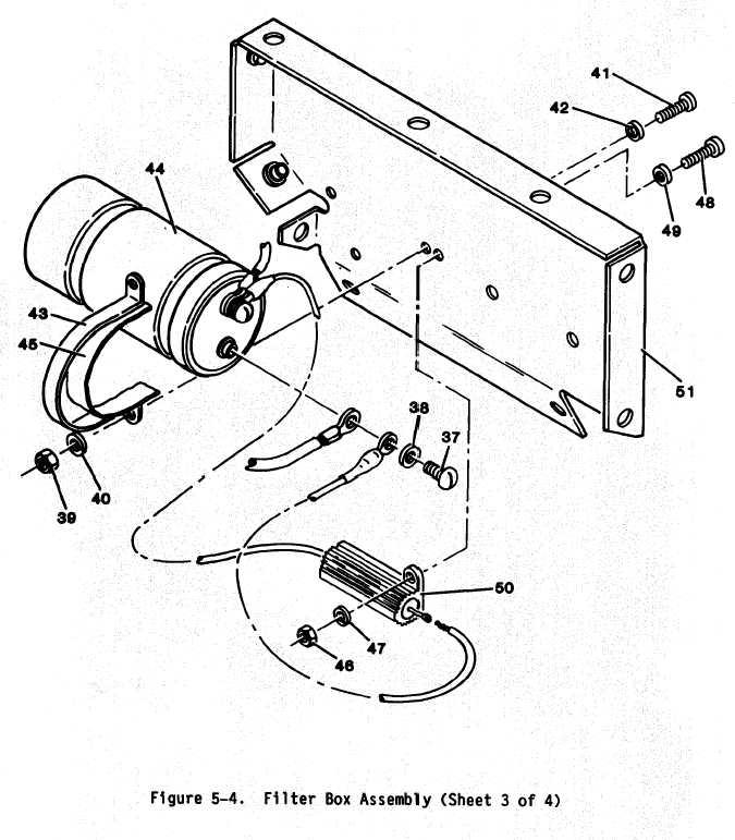 figure 5-4. filter box assembly (sheet 3-4)