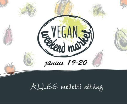 Vegan Weekend Market az Allee melletti sétányon