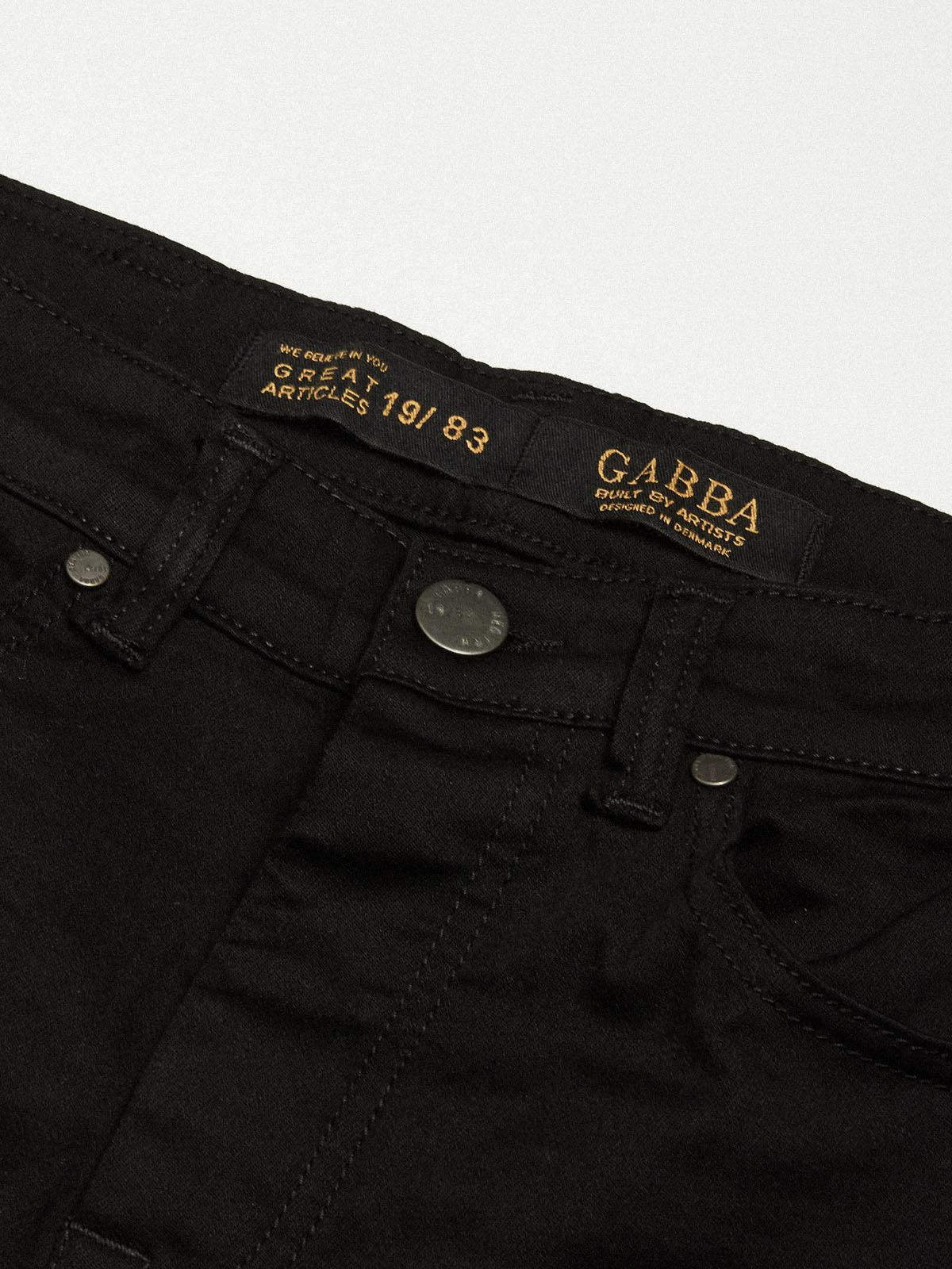 GABBA JEANS - Jones K1911 Black Jeans | Gate 36 Hobro