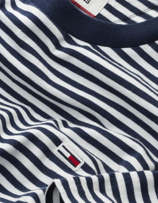 TJM Clasic Tee Stripet White/Navy | Gate 36 Hobro