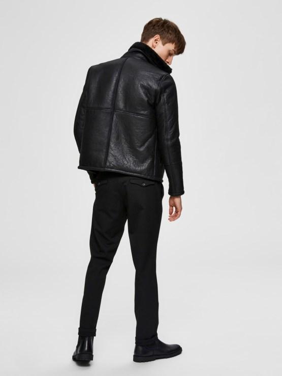 SELECTED SLHSLIM-CARLO FLEX PANTS BLACK | Gate36 Hobro