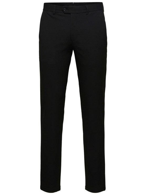SELECTED SLHSLIM-CARLO FLEX PANTS BLACK | GATE36 HOBRO