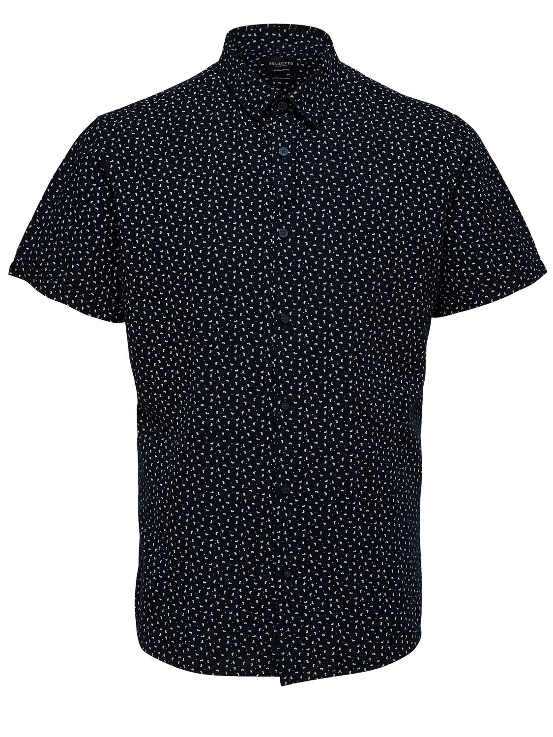 SELECTED SKJORTE - SLHREGLINEN NAVY AOP | GATE 36 Hobro
