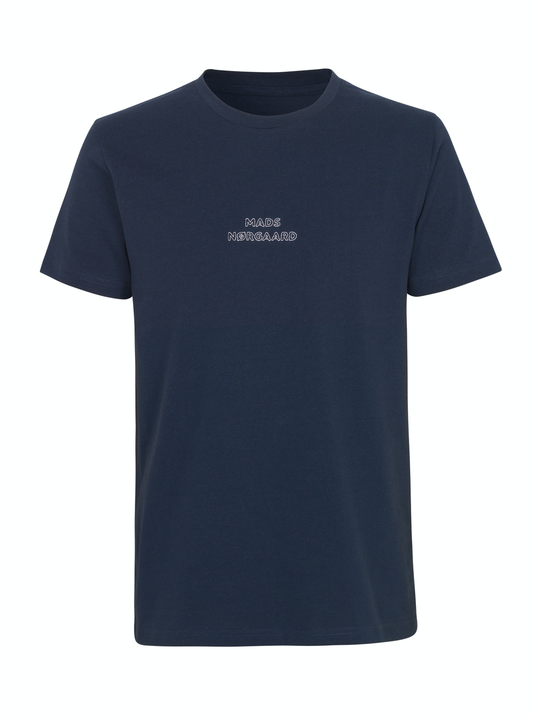 Mads Nørgaard EMB T-shirt Navy | GATE 36 Hobro