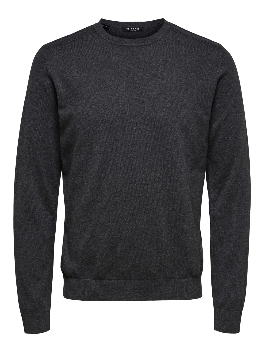 Selected - slhberg crew neck Strik Antracit | GAte36 Hobro