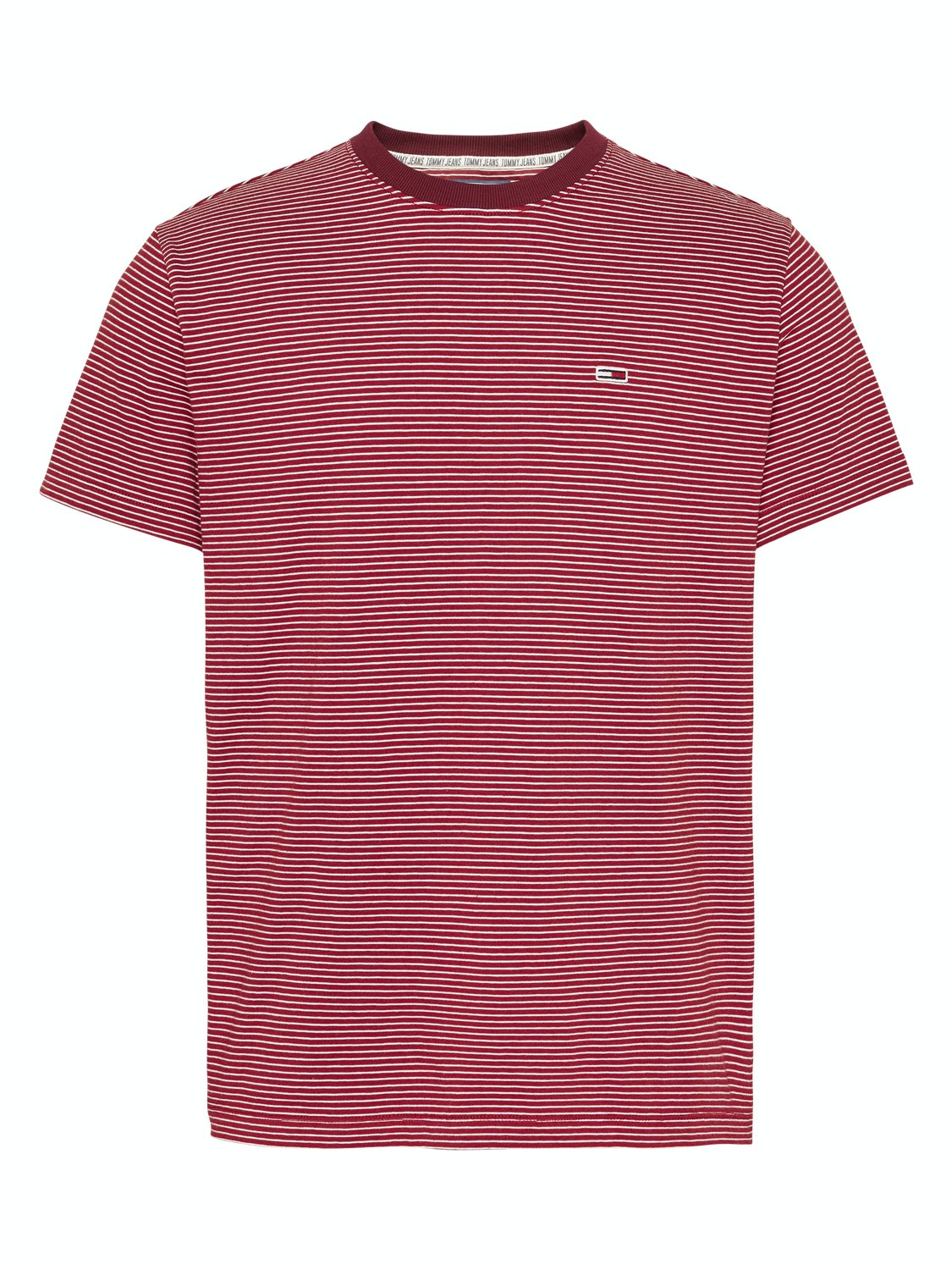 TOMMY HILFIGER - basic stripe T-shirt wine red | Gate36 Hobro