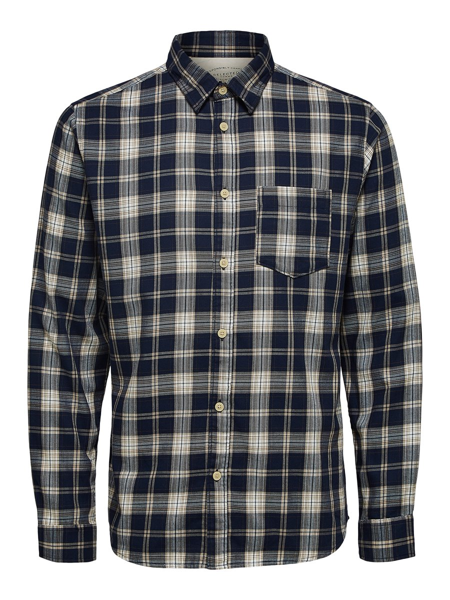 Selected Skjorte - Slhregmatthew shirt Navy/Check | GATE 36 Hobro