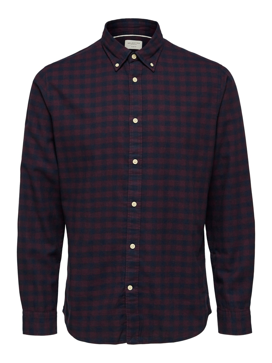 Selected Skjorte - Slhslimflannel shirt port royal/big check | Gate36 Hobro