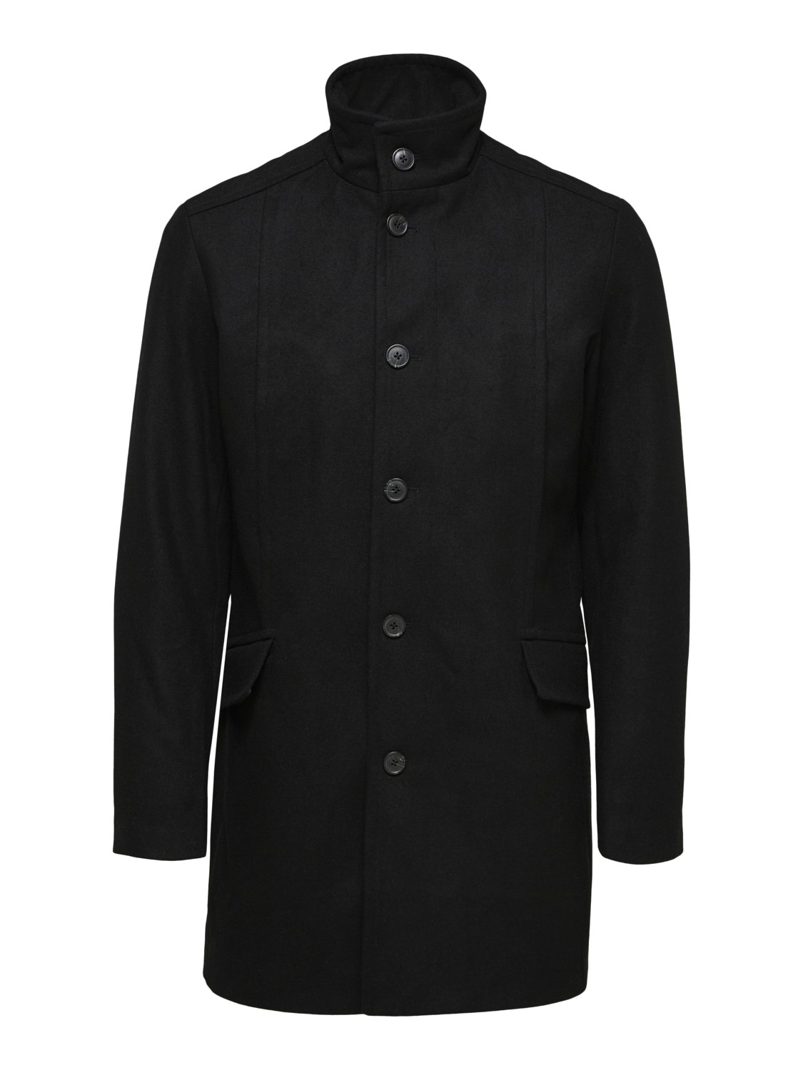 SELECTED - SLHMORRISON WOOL COAT BLACK | Gate36 Hobro