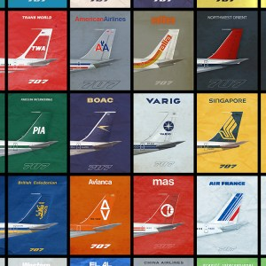 707 Empennage 1970's Airliner Poster – 11 x 17