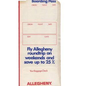 Allegheny Airlines Ticket Envelope