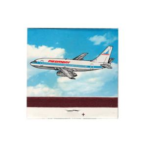 Piedmont Airlines Matchbook/Matches Drawn 737