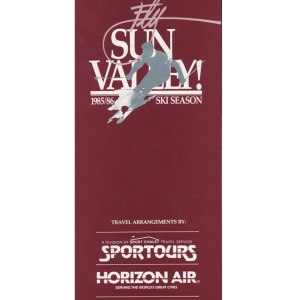 Horizon Air Ski Season Timetable 1985/86
