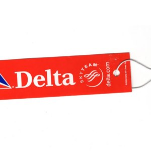 Delta Airlines Passenger Luggage Tag RED