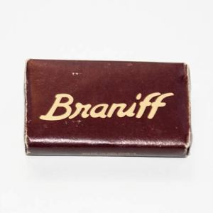 Braniff Airlines Ultra Lavatory Soap Bar Brown