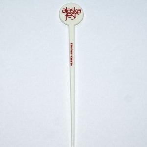 Alaska Airlines, Alaska Fest Swizzle Stir Stick