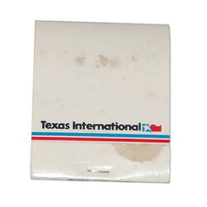 Texas International Airlines Matchbook/Matches