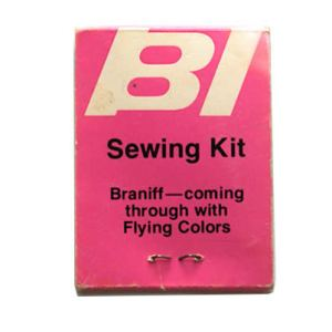 Braniff International Airlines Mending/Sewing Kit