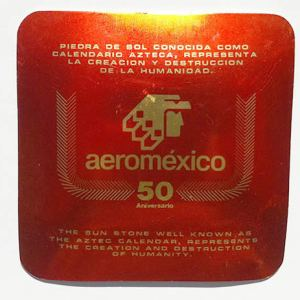 Aeromexico Airlines 50th Ann. Commemorative Aztec Ashtray