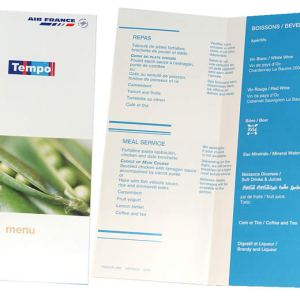 Air France – In-Flight Meal Menu