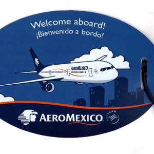 Aeromexico Passenger Luggage Tag – Blue Oval