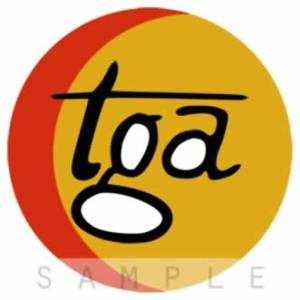 Retro Airline Fabric Drink Coasters – TGA (Fictional)