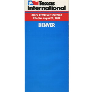 Texas International Timetable, Denver 1982
