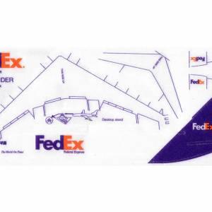 FEDEX McDonnell Douglas DC-10 Foam Glider