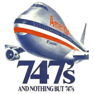 American Nothing but  747's