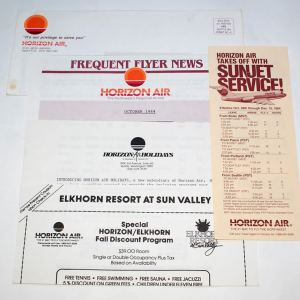 Horizon Air Frequent Flyer Letter & Envelope 1984