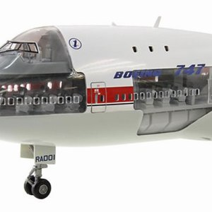 B747-100 Maiden Flight City of Everett Scale Cutaway Model