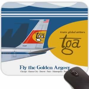 Retro Airline Jet-Age Mouse Pads – TGA Advert (Fictional)