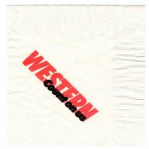 Western Airlines Count On Us Paper Napkin