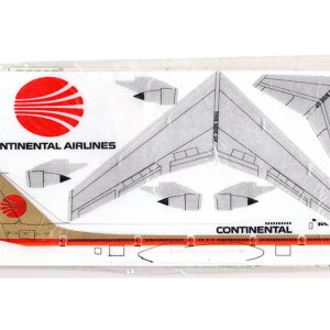 Continental Airlines 747 Foam Glider