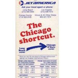 Jet America Timetable, 1980's