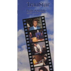Vintage Trans Star Airlines Timetable, 6/1/86