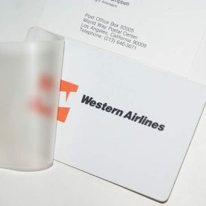 Western Airlines Blank Unused Lanyard Sleeve