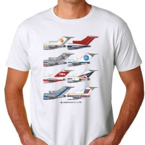727 Tails Empennage White Tee (XL) (DEFECT)