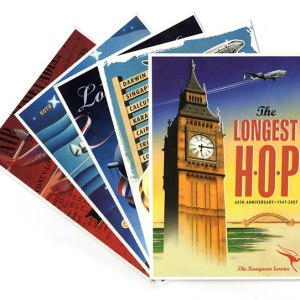 Qantas Retro Posters Postcard Collection (5)