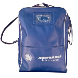 Air France Blue Travel Shoulder Bag 1970s